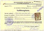 """Screening card for """"Wenn einer eine Reise tut"""" / COLLATE"""